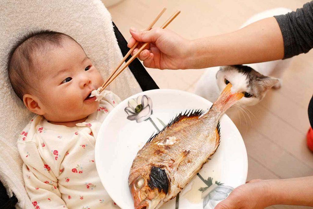 bebeklere balık